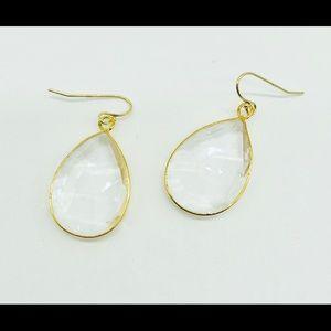 Jewelry - Clear crystal earrings